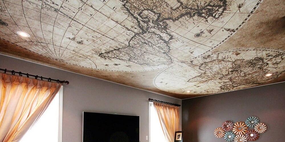 история возникновения появления натяжных потолков как появился натяжной потолок